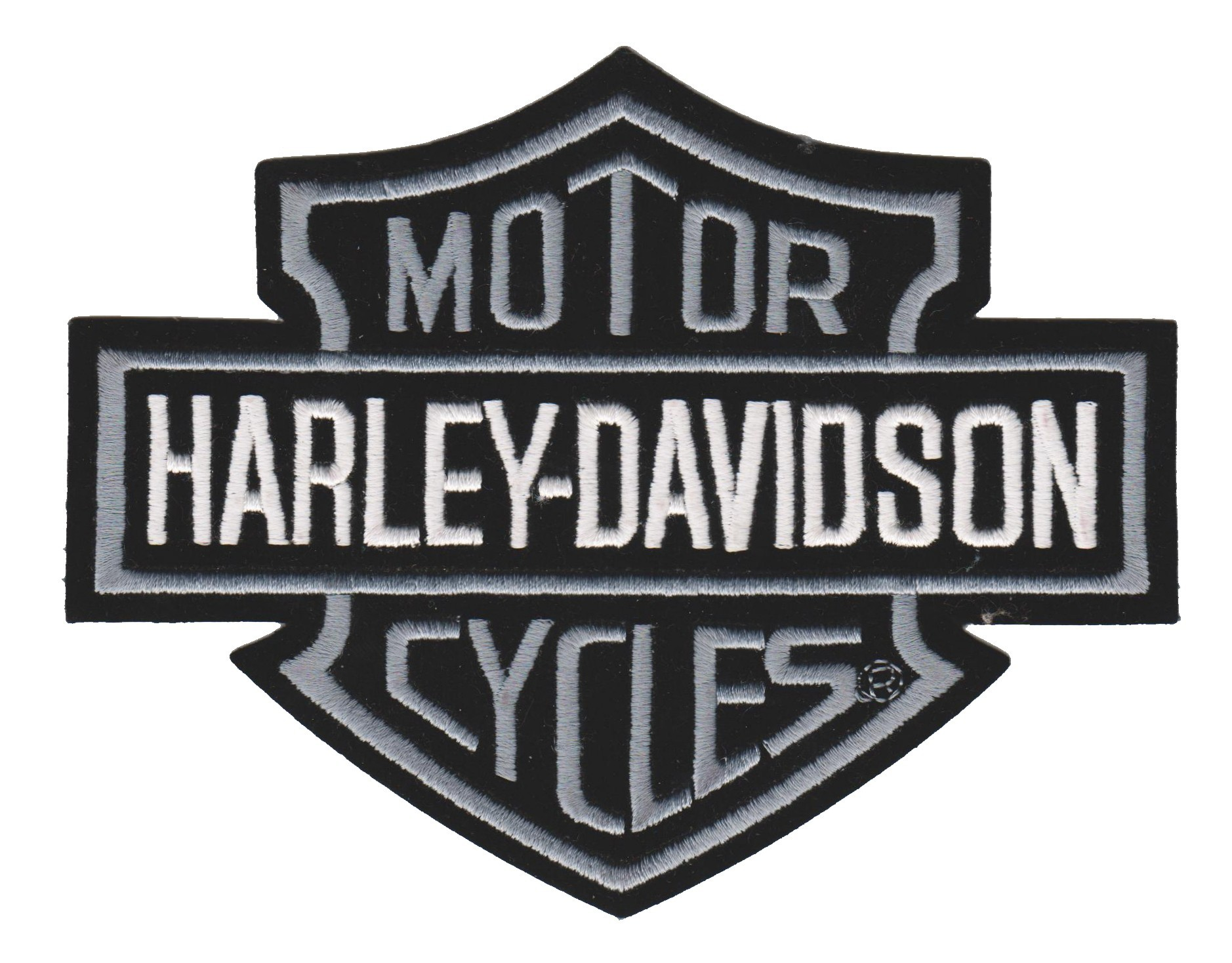 Harley-Davidson ® Gray Bar & ShieldHarley ® PatchAvailable in 4 SizesFREE SHIPPING - Product Image