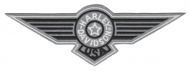 "Harley-Davidson ® Hard Wings Harley ® Patch7 3/4 "" x 2 3/4 ""FREE SHIPPING - Product Image"