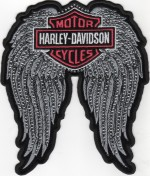 Harley-Davidson ®Ladies Studded Angel Wing Harley ® PatchAvailable in 2 SizesFREE SHIPPING - Product Image