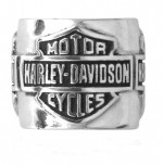 Harley Davidson ®/Mod ®  Sterling Silver  Multi Bar / Shield  Women's Ride Bead  Does fit Pandora  ® - Product Image