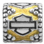 Harley Davidson ®/Mod ®  Bar & Shield Ride Bead  Sterling Silver  Does fit Pandora  ® - Product Image