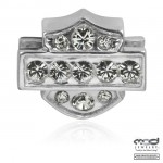 Ride Bead  Harley Davidson ®  Sterling Silver  Bling Bar / Shield  Made by Mod ®  Does fit Pandora  ® - Product Image