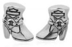 Harley Davidson ® MOD ®  Sterling Silver Boot  Ride Bead  Does fit Pandora  ® - Product Image