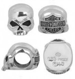 Ride Bead  Harley Davidson ®  Sterling Silver  Willie G Skull  Made by MOD ®  Does fit Pandora  ® - Product Image