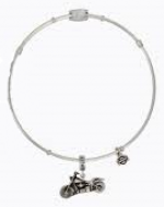 Legends  Harley-Davidson ®  Stainless Steel  Ladies Motorcycle Charm Bangle Bracelet Made by MOD ®   - Product Image