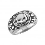 Unisex  Harley-Davidson ®  Sterling Silver  Willie G Skull Ring  By Mod ®  Available in Sizes 5-15 - Product Image