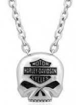 Harley-Davidson ®  Stainless Steel  Willie G Skull Necklace  Made by Mod ®  - Product Image