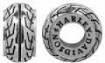 CLOSE OUT PRICE  Harley Davidson ®/Mod ®  Sterling Silver  Tire Ride Bead  Does fit Pandora  ® - Product Image