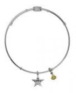 Harley-Davidson ®/Mod ®  Patriotic Star  Ladies Legends Charm  Bangle Bracelet  - Product Image