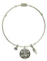 Harley-Davidson ®/Mod ®  Ladies Free Spirit  Stainless Steel  Legends Charm  Bangle Bracelet  - Product Image