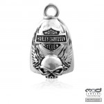RIDE BELL  Harley Davidson ®  Skull with Wings  and Logo  Old School  FREE SHIPPING - Product Image