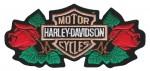 "Harley-Davidson ® RosesHarley ® Patch2 3/4 "" x 6""FREE SHIPPING - Product Image"