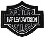 Harley-Davidson ® Grey Bar & Shield Logo Harley ® PatchAvailable in 4 SizesFREE SHIPPING - Product Image