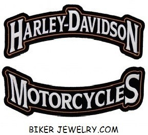 "Harley-Davidson ® Top/Bottom Banner Harley ® Patch12"" x 3 1/2 ""FREE SHIPPING - Product Image"