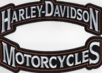 """Harley-Davidson ® Top/Bottom Banner Harley ® Patch12"""" x 3 1/2 """"FREE SHIPPING - Product Image"""