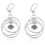 Ladies Earrings  Harley-Davidson®  Tri-Hoop  Sterling Silver  by Mod ®  - Product Image