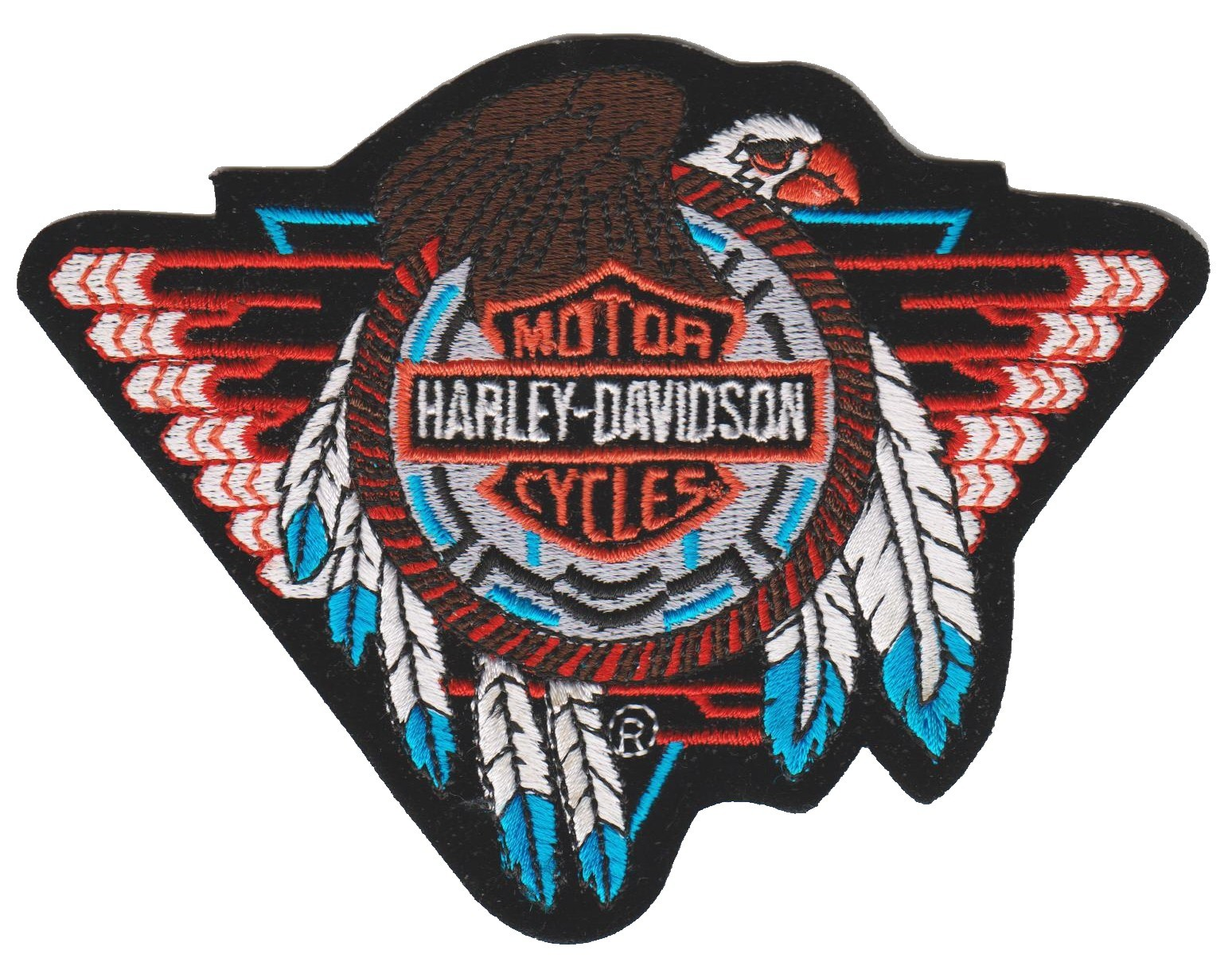 "Harley-Davidson ® Tribal Eagle Harley ® Patch3 3/4 "" x 5""FREE SHIPPING - Product Image"