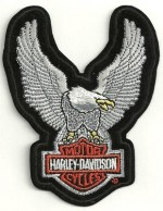 Harley-Davidson ® Up-Wing (Silver)Harley ® PatchAvailable in 3 SizesFREE SHIPPING - Product Image