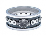 Harley Davidson®  Wedding Band  Stainless Steel  Bike Chain Ring  By MOD ®  - Product Image