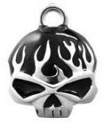 RIDE BELL  Harley Davidson ® Willie G Skull  with Black Flames  FREE SHIPPING - Product Image