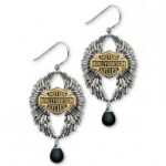 Harley-Davidson ®  Sterling Silver  Wings of Wonder Earrings - Product Image