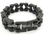 Heavy Black  Stainless Steel Biker Chain  Bracelet  Two Sizes  FREE SHIPPING - Product Image
