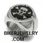 Heavy Stainless Steel  Skull/ Crossbones Pirate Ring  Sizes 9-15  FREE SHIPPING - Product Image