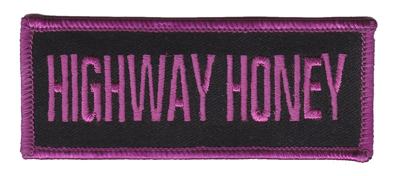 "Highway Honey Motorcycle Biker Patch 3 3/4 "" x 1 1/2 ""FREE SHIPPING - Product Image"