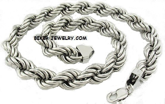 "HUGE  Stainless Steel  Rope Necklace  24""  FREE SHIPPING - Product Image"