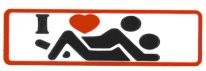 I (heart) (Missionary Position) - I love sex - Product Image