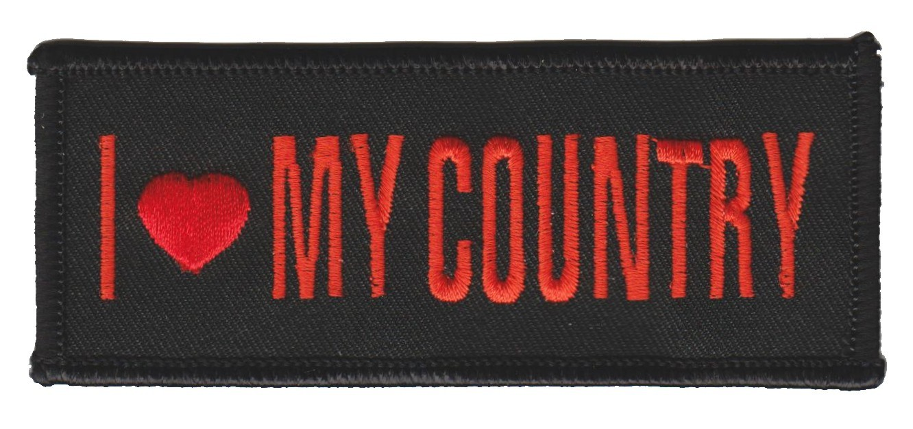 "I Love My Country Biker Patch4 1/4 "" x 1 3/4 ""FREE SHIPPING - Product Image"