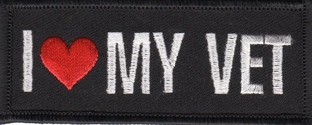 "I Love My Vet  Military Patch3 1/2 ' x 1 1/2 ""FREE SHIPPING - Product Image"