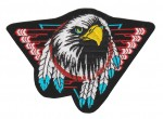 "Indian Eagle Biker Patch3 1/2 "" x 5""FREE SHIPPING - Product Image"