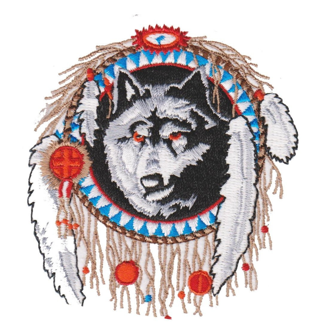 """Indian WolfBiker Patch3 1/4 """" x 3 1/2 """"FREE SHIPPING - Product Image"""