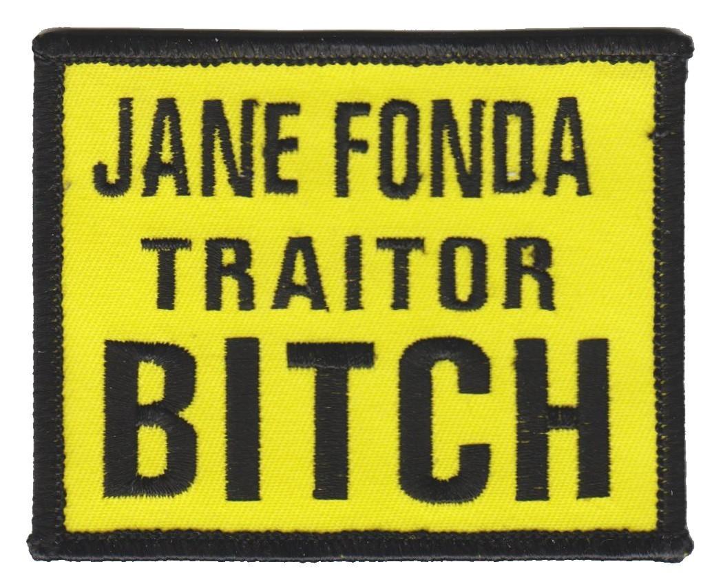 """Jane Fonda Traitor BITCHBiker Patch3 1/2 """" x 2 1/2 """"FREE SHIPPING - Product Image"""