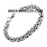 Stainless Steel  Byzantine Bracelet  Available in 5 Lengths  FREE SHIPPING - Product Image