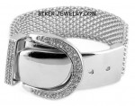 LADIES BRACELET  Belt Buckle Design  Stainless Steel  FREE SHIPPING - Product Image