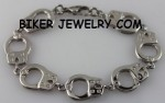 Ladies  Handcuff Link Bracelet  Stainless Steel  3 Sizes  FREE SHIPPING - Product Image