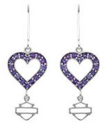 Ladies Harley-Davidson ®  Sterling Silver  Timeless Heart  Earrings  - Product Image