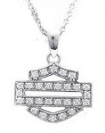 Ladies  Harley Davidson ®  Open Bling Logo Pendant  by Mod - Product Image