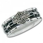 CLOSEOUT PRICE  Ladies Harley-Davidson ® Rolling Thunder  Spinner Wedding Band  - Product Image