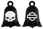Harley Davidson ®  and Mod ®  Black Filigree Willie G Skull  Ride Bell  FREE SHIPPING - Product Image