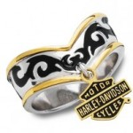 SALE PRICE  Ladies Harley-Davidson ® Charm Ring  by the  Franklin Mint - Product Image