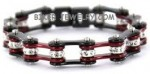 Ladies Stainless Steel  Black / Candy Red  Bling Bracelet  with Crystals  4 Lengths  FREE SHIPPING - Product Image
