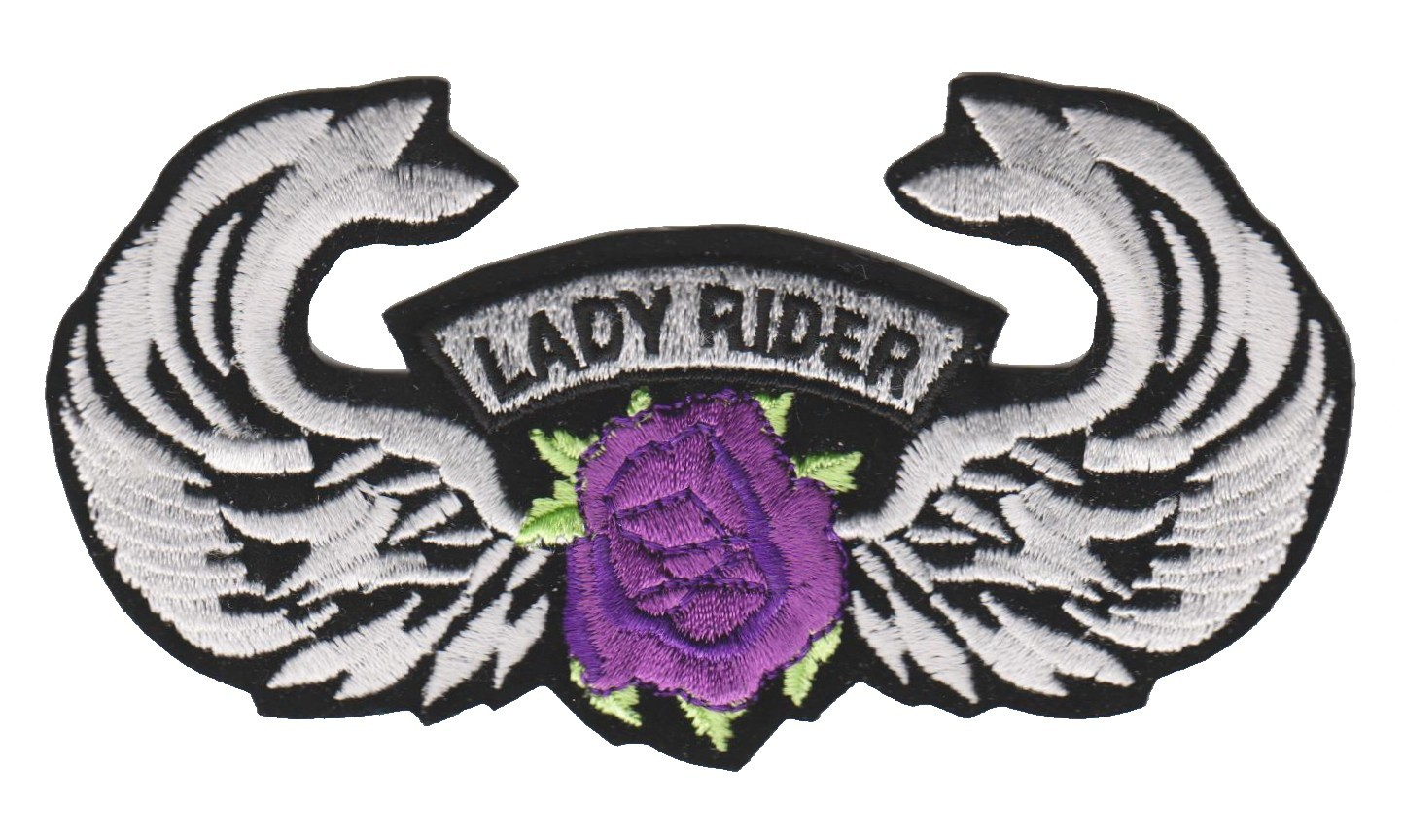 "Lady Rider Wings Motorcycle Patch 4 1/2 "" x 2 1/2 ""FREE SHIPPING - Product Image"