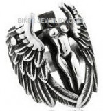Man's Stainless Steel Lady Angel RingSizes 8-16FREE SHIPPING - Product Image