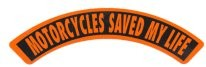 MOTORCYCLES SAVED MY LIFE (Rocker) - Product Image