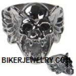 Men's Stainless Steel  Gargoyle Skull Ring  Sizes 9-15  FREE SHIPPING - Product Image