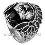 Men's  Stainless Stee l Indian Chief Ring  Sizes 8-16  FREE SHIPPING - Product Image