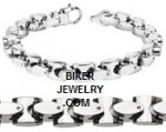 Men's Stainless Steel  Square Link Bracelet  5 Lenghts  FREE SHIPPING - Product Image